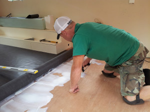 Laying the floor